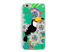 Toucan iPhone 6S Case, Parrot iPhone 6S case, Tropical Pattern, Flower phone case, cool iphone 6S case, Protective 6s Case, iPhone 6s cover