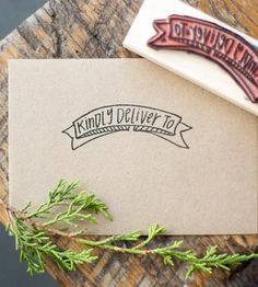 Kindly Deliver To Stamp by Alison Kate Design on Scoutmob Shoppe