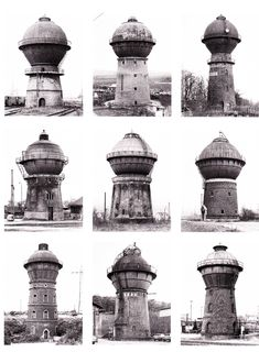 Bernd and Hilla Becher / Water Towers, 1965-82