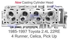 85-97 Toyota 22re 2.4 cylinder head.  Fits: Pickup, 4Runner and Celica. New reinforced casting for higher mechanical performance.