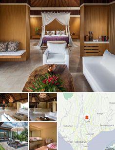 L'hotel è situato nella Monkey Forest Road a Ubud, in prossimità di diversi negozi, eccellenti ristoranti e istituzioni culturali, musei e gallerie d'arte. Il centro commerciale di Ubud dista 5 minuti d'auto, la Monkey Forest 3 minuti, il lago di Batur 20 minuti d'auto, la città di Gianyar e la spiaggia di Sanur 15 km. L'hotel si trova a circa 50 km dall'aeroporto internazionale di Ngurah Rai (un'ora di viaggio).