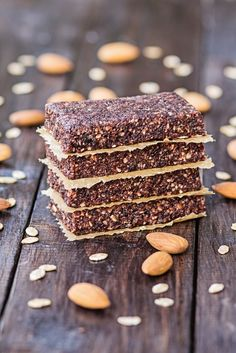These healthy wellness energy bars are a mix of dates and nuts with any customizable flavor combinations for a delicious grain free snack. Protein Bar Recipes, Protein Bars, Healthy Recipes, Dehydrator Recipes, Food Processor Recipes, Real Food Recipes, Cooking Recipes, Snacks Recipes, Keto Snacks