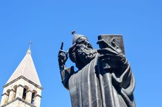 The statue of Grgur Ninski, a medieval bishop that strongly opposed the Pope. Split, Croatia   heneedsfood.com