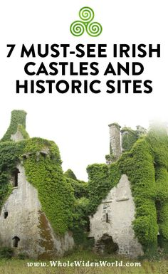 7 Must-see Irish castles and historic sites: While on our honeymoon road trip in Ireland, we visited several castles and historic sites. We visited Kilkenny Castles, Rock of Cashel, Merlin Castle, Menlo Castle, Bunratty Castle, Bru Na Boine, Athenry Castle, and Muckross Abbey. Here are our photos of our must-see Irish castles. #irishcastles #ireland #travelireland #irishtravel #traveltoireland #castles #wholewidenworld