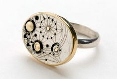 "Raymond de Zwart-AUSTRALIA """" This highly symbolic jewellery makes the connection between the mechanical and the metaphysical. The intricate designs are born from a love of geometry and the cosmic measuring devices of the Renaissance. These apparatus' called horograms were used to measure and explore the universe."""
