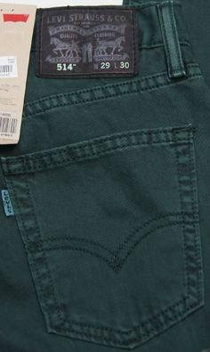 LEVI'S 514 Slim Straight Leg Colored Jeans Teal NEW NWT #Levis #SlimStraightLeg