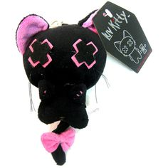 Luv Kitty Key Chain Doll Pink | Gothic Clothing | Emo clothing |... ($5.25) ❤ liked on Polyvore featuring accessories, stuffed animals, toys, other and plushie