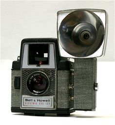Vintage Bell and Howell Electric Eye 127 film camera with Flash Unit -1958