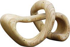 Paulo Laender - PONTE - escultura em madeira laminada colada e cavilhada - data 2009 - dim 72 x 86 x 145 cms