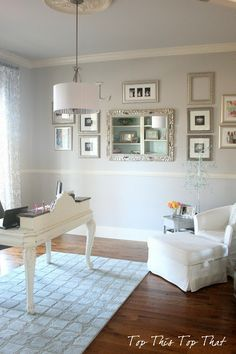 Chic Home Office. With a little paint on the walls and desk you can transform your home office into a stylish space. Home Office Decor, Office Furniture, Home Decor, Office Ideas, Office Decorations, Gothic Furniture, Outdoor Furniture, Office Evolution, Condo