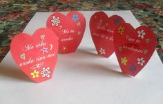 Maori Printables: Maori Valentine Stand Up Hearts