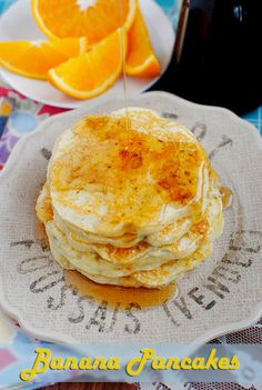 My Brother's Famous Banana Pancakes #breakfast @Iowa Girl Eats | iowagirleats.com