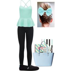 Untitled #21 by performingartgirl on Polyvore featuring Forever New, New Look, TOMS, Kate Spade and Pusheen