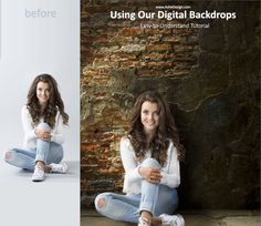 Using Ashe Design Digital Backdrops Tutorial. Adding your images to our digital backdrops is a snap with this easy-to-follow tutorial. The most important part is getting a good extraction of your image from its original background.