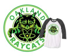 "99% Invisible ""Ray Cats"" Baseball T- available in Men & Women sizes"