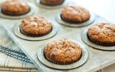 Gluten-free carrot and date muffins - Moist, sweet and subtly spiced, these muffins will become a new favorite  (for dairy free - replace the egg with a mix of hot water and ground flaxseed) Carrots And Dates, Date Muffins, Ayurvedic Diet, Ayurvedic Recipes, Gluten Free Cooking, Gluten Free Recipes, Gluten Free Breakfasts, Foods With Gluten, Gluten Free Desserts