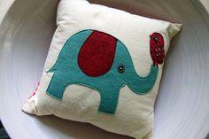 cutesy little felt elephant on a pillow!!