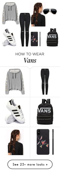 """hoodie day"" by vaug7168 on Polyvore featuring LullaBellz, adidas, 2LUV and Vans"