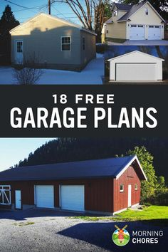 18 Free Diy Garage Plans With Detailed Drawings And Instructions Diy Garage Plans Garage Design Building A Garage