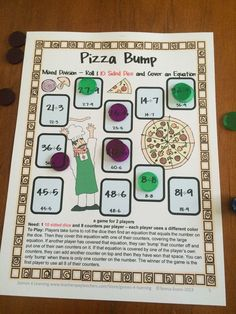 FREEBIE - Division Bump Games Freebie from Games 4 Learning - 2 printable math bump games for division