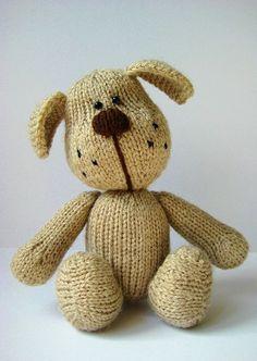 Bernie The Dog in DK by Amanda Berry - Digital Version   Toy Knitting Patterns   Knitting Patterns   Deramores