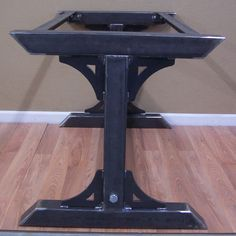 Industrial Steel Table Base Kitchen Island Bar by ModernIronworks