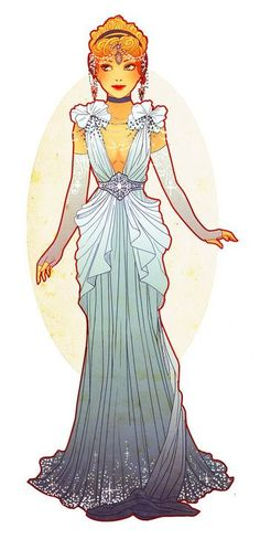 Art Nouveau Costume Designs I by Hannah-Alexander                                                                                                                                                      {It resembles Disney's Cinderella!}