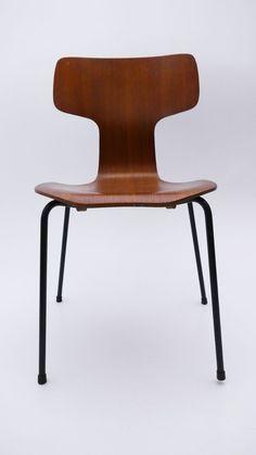 VINTAGE Stuhl 3103 Arne Jacobsen Fritz Hansen Danish DESIGN Teak Mid Century   Antiquitäten & Kunst, Design & Stil, 1960-1969   eBay! Fritz Hansen, Arne Jacobsen, Mid Century Style, Teak, Dining Chairs, Furniture, Design, Home Decor, Vintage Chairs