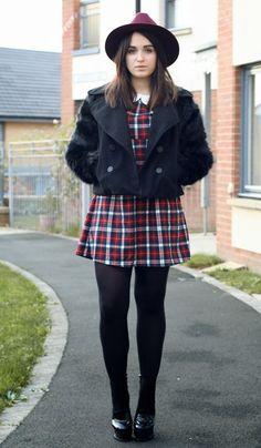 BLOGGER LOVE  Rachael in our  Tandy  tartan dress WAHHH! We just LOVE 4bdb75cd8a8e