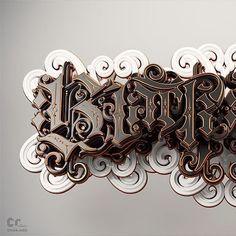 「metallic 3d typography」の画像検索結果