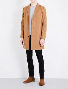 TOPMAN Wool-blend coat