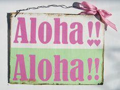 Türschild  Dekoschild   Aloha Geschenk  von Un-Art-Tick via dawanda.com