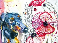 Dachshund art print by by mimilove on etsy - love everything about this!