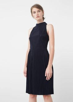 Pleated hem dress - Dresses for Women | MANGO USA