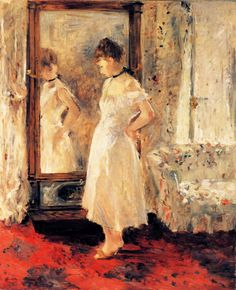 Impressionismo - Berthe Morisot - The Cheval-Glass, 1876 French painter . Madrid, Thyssen-Bornemisza Collection.