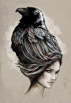 #Raven #Art #Hair