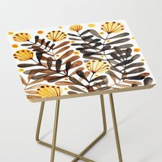 From sideshow to show-stopper, our side tables will be a stunning modern accent to your space. Whimsical and modern design bby wackapacka Stool, Chair, Sideshow, Side Tables, Watercolor Flowers, Florals, Whimsical, Modern Design, Palette