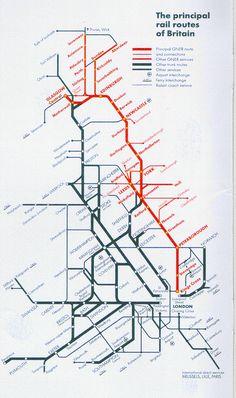 Principle Routes of British Rail