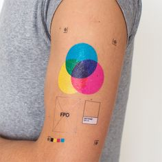 Printer's Set tattoos by Tattly