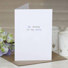 'hero daddy' greetings card by slice of pie designs | notonthehighstreet.com