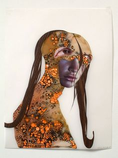 "Wangechi Mutu, ""Untitled (classic profiles series)"", 2003, collage and watercolor on mylar"