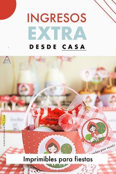 Descubre la forma de generar ingresos extras desde casa diseñando imprimibles para fiestas. #unafiestabonita #emprender #gastosextras