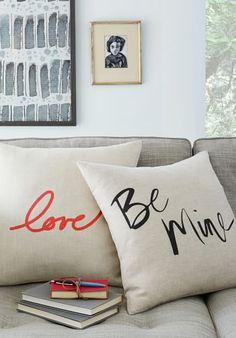 'love'& 'be mine' pillows