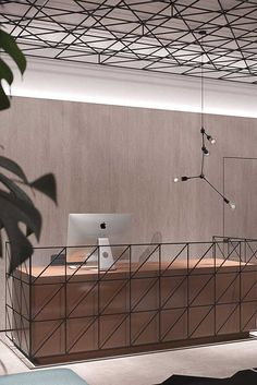 Modern And Cozy Office Interior Design Ideas To Makes You Feel Comfortable 15 Commercial Interior Design, Office Interior Design, Commercial Interiors, Office Interiors, Office Designs, Office Ceiling Design, Modern Interior, Design Room, Coperate Design