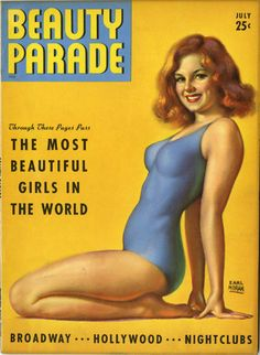 "July 1942 vintage Cover of Robert Harrison's ""Beauty Parade"" magazine"