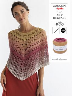 Stripes, oversize, asymmetry and simple details: Summer 2019 Trends - - Knitting and crocheting are in fashion again: Stripes, oversize, asymmetry and simple details are our 4 summer 2019 Knitting and Crocheting Trends. Diy Crochet Poncho, Crochet Bolero, Crochet Poncho Patterns, Quick Crochet, Crochet Blouse, Crochet Clothes, Free Crochet, Knit Crochet, Rainbow Crochet