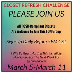 ⭐️Closet Refresh Challenge Share Group⭐️ March 3rd-March 11th Free People Other
