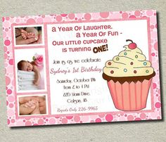PRECIOUS! Cupcake party invite