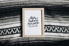 Throw Kindness Around Like Confetti print // by BlankPageLettering