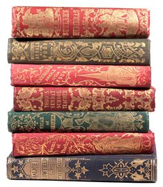"Attractive publishers cloth bindings with gilt detailing late 1840's early 1850's these volumes are less then 100mm [4""] in height"